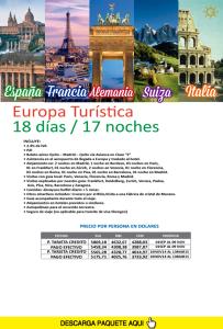 Europa turística 18 dias