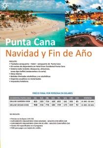 Punta Cana Navidad y  Fin  de Año