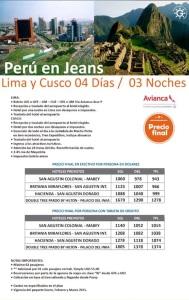 PERU 2015 EN JEANS