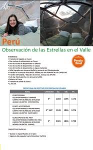 Perú - Cusco - Observación   de  las  estrellas  en el valle