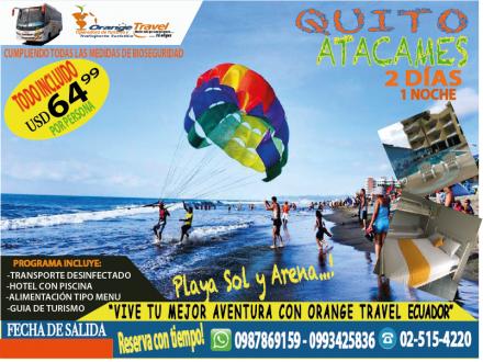 TOUR ATACAMES PLAYA SOY Y ARENA 2020