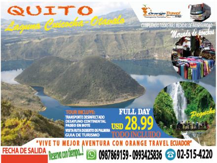 TOUR QUITO-OTAVALO CUICOCHA 2020