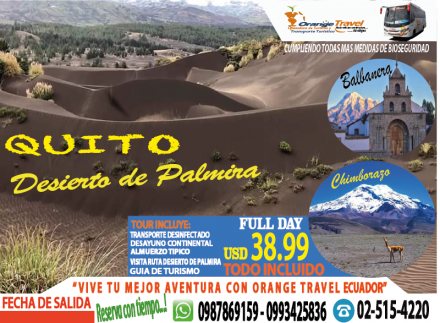 TOUR QUITO-PALMIRA 2020